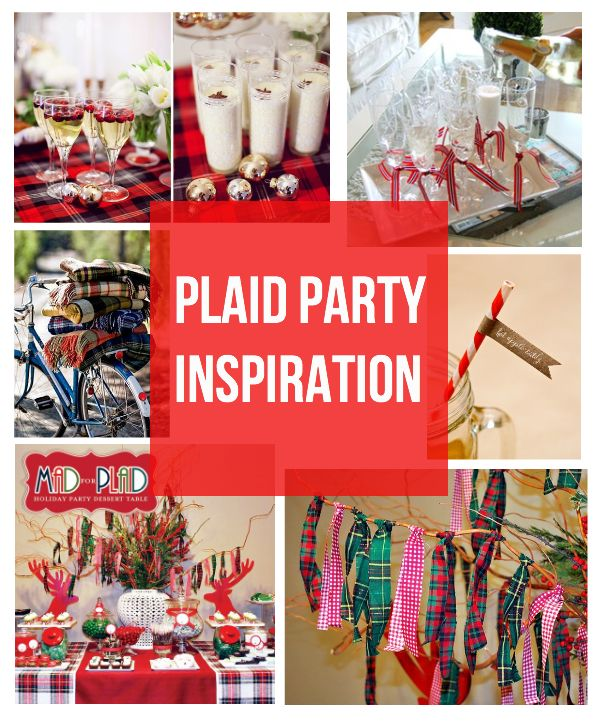 Plaid Theme {holiday Party Inspiration} Like Stacks Of
