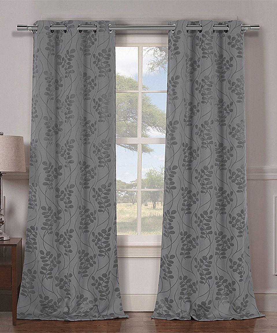 Duck river textile gray rileyann blackout curtain panel set of two