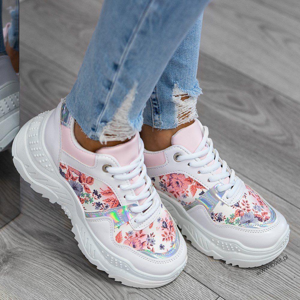 Nowosc Trampki Sportowe W Kwiaty Niko Flower Dostepne Na Www Lovet Pl Fashion Goldie Crystal Ootd Style Classic Shoes Air Max Sneakers Nike Air Max