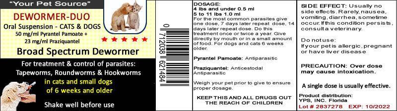 Pet Dewormer Duo For Dogskittenscatspups Tapeworm Roundworm Roundworm Pets Duo