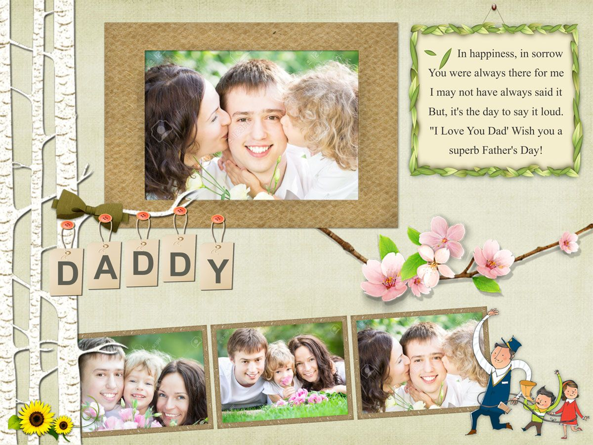 Free Fathers Day Greeting Card Template Download This In CorelDraw And Ms Word File