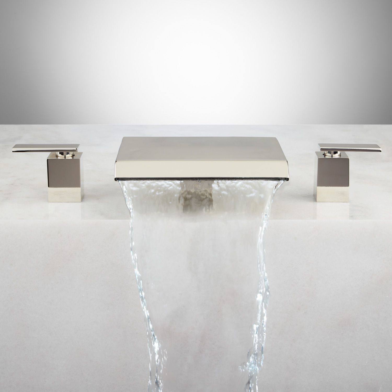 Lavelle Waterfall Roman Tub Faucet | Polished nickel, Faucet and Tubs