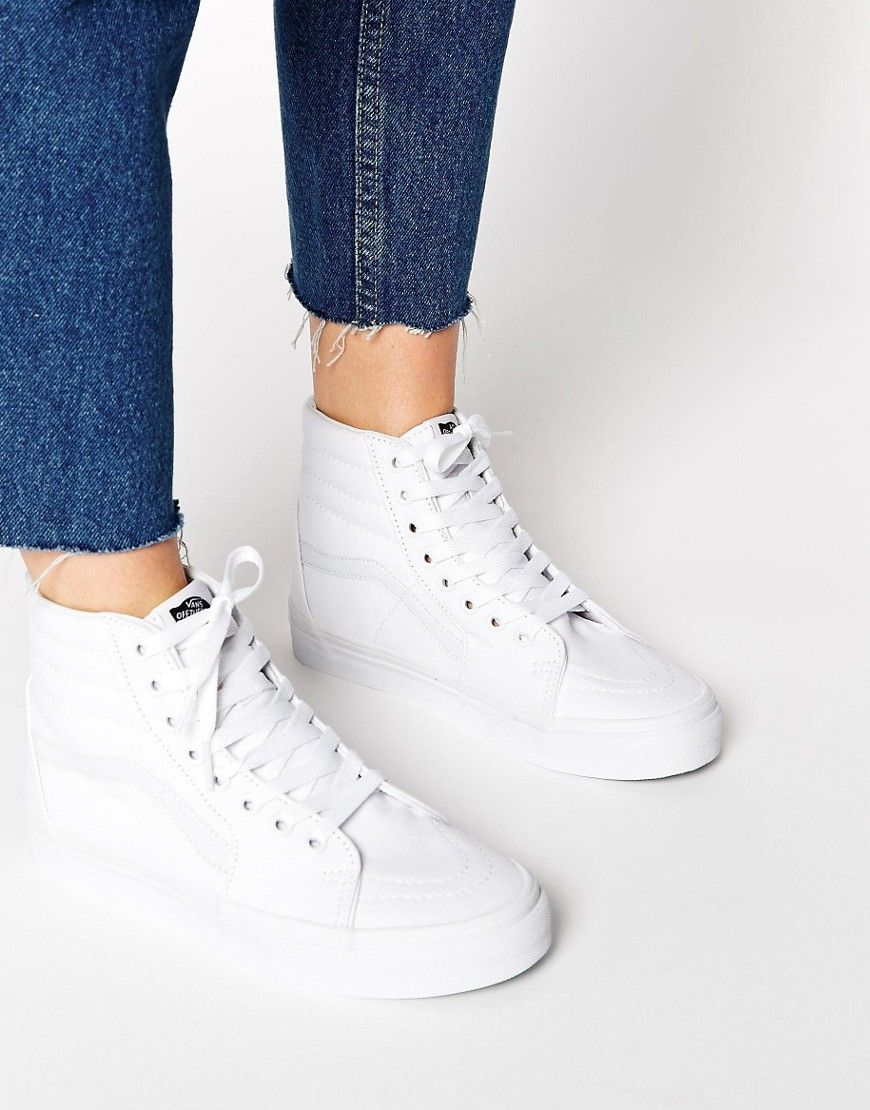 Buy Women Shoes / Vans Sk8-hi Perforated White High Top Trainers