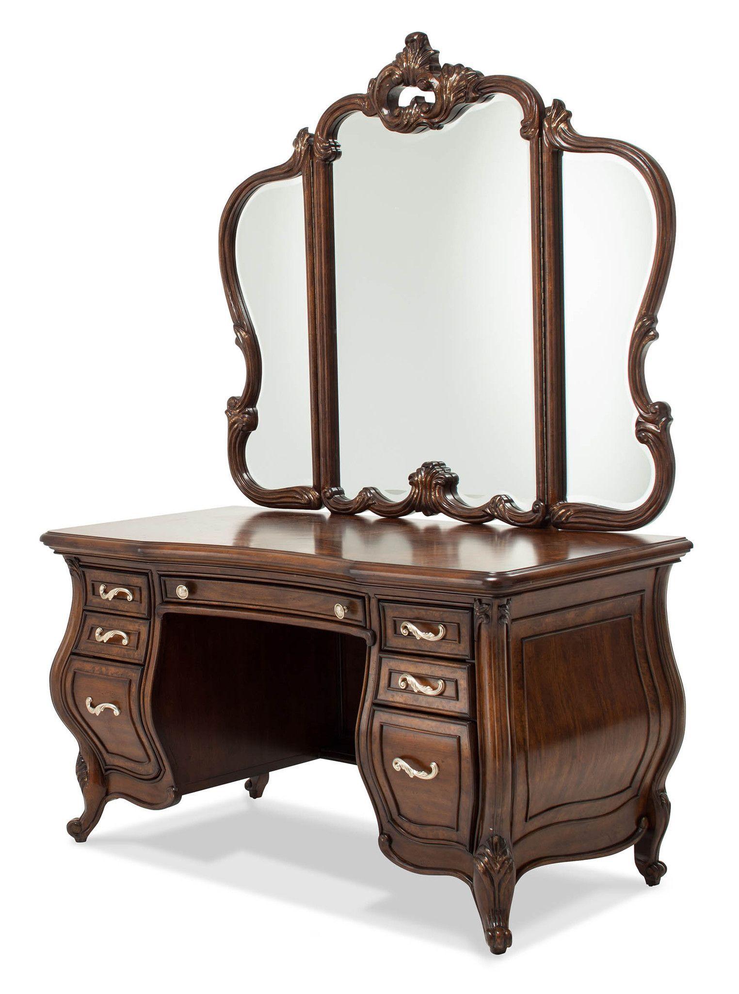 Platine de Royale Vanity with Mirror Light Espresso by