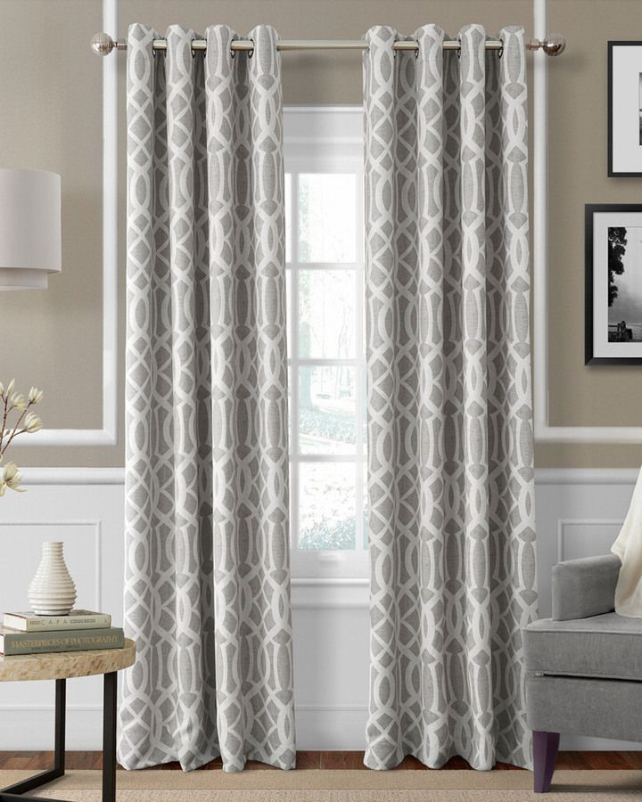 Elrene Harper Gray Window Panel Cool Curtains Elrene Home