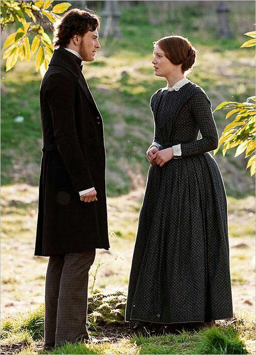 Michael Fassbender (Mr. Edward Fairfax Rochester) & Mia Wasikowska (Jane Eyre) - Jane Eyre (2011) directed by Cary Fukunaga #charlottebronte