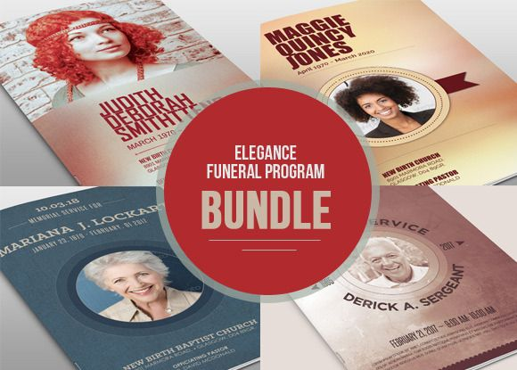 Remembrance Funeral Program Bundle by loswl on @creativework247 ...