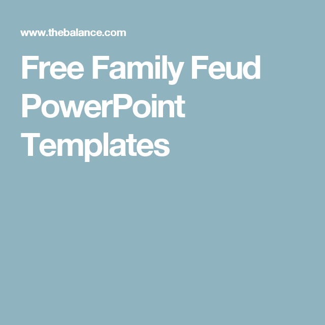 Make your own family feud game with these free templates pinterest free family feud powerpoint templates toneelgroepblik Images