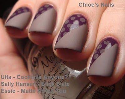 Matte/glossy combo