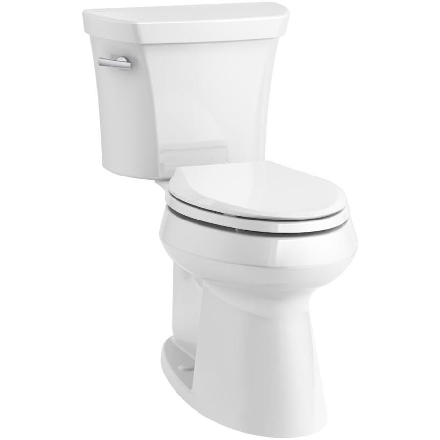 KOHLER Highline White WaterSense Labeled Elongated Chair Height 2 ...
