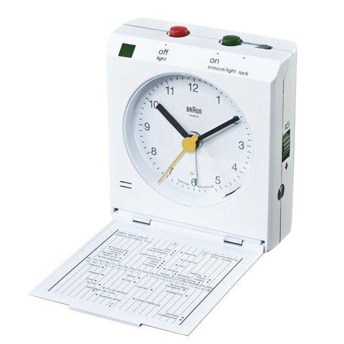 Braun Reflex Travel Alarm Clock Bn C005 Open Box With Images Travel Alarm Clock Clock Large Digital Wall Clock