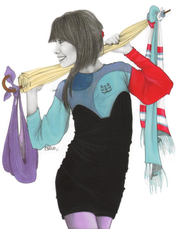 fashion zodiac by Elena Capoccia, via Behance