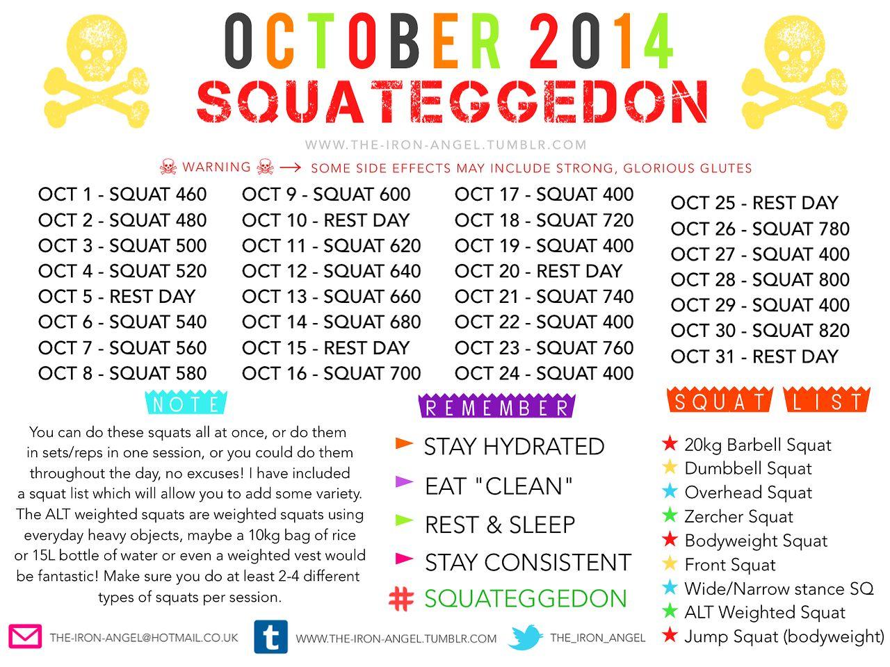 | T.I.A | Think Without Limits | October Squats | Squats ...