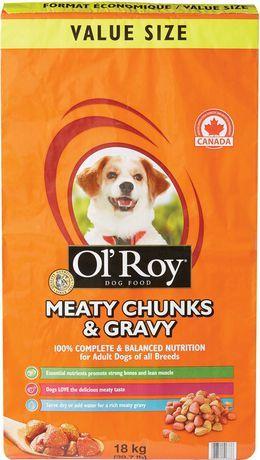 Ol Roy Meaty Chunks Gravy Dry Food For Adult Dogs 18kg Ol