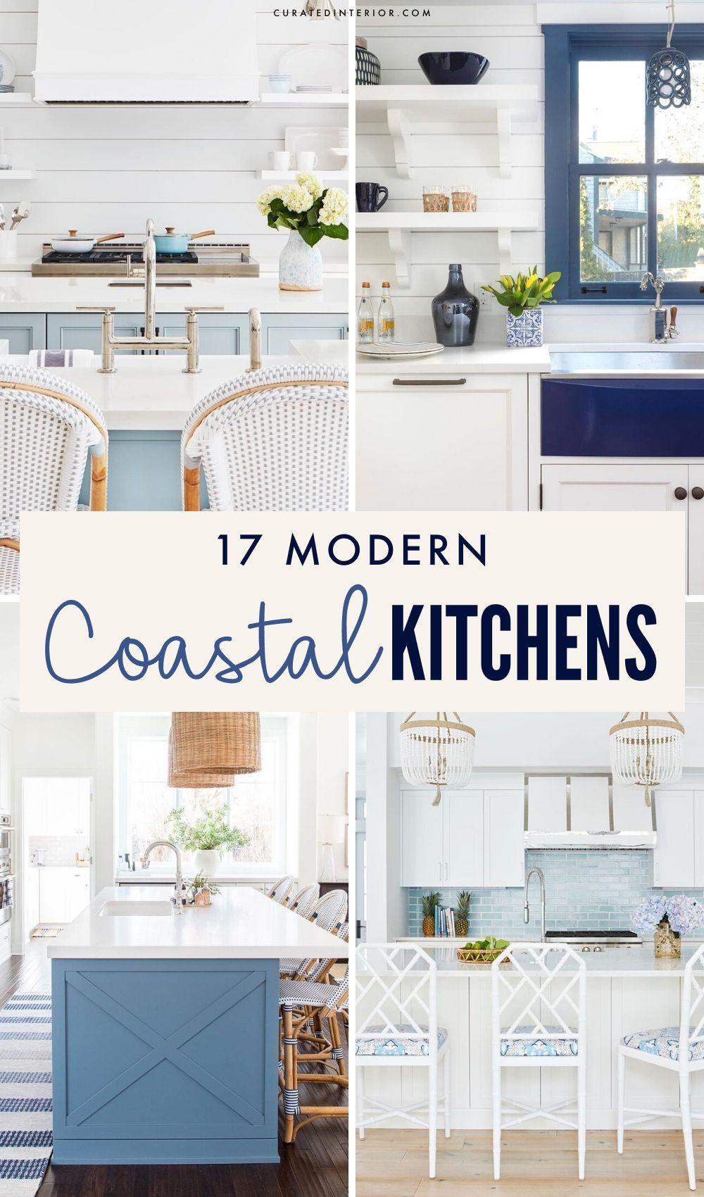 17 Coastal Kitchen Decor Ideas For A Beach Home Coastal Kitchen Decor Coastal Kitchen Beach House Kitchens