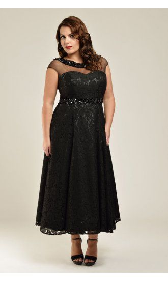 7fe48f0586f Christina Plus Size Evening Gown in Onyx Plus Sizes  18