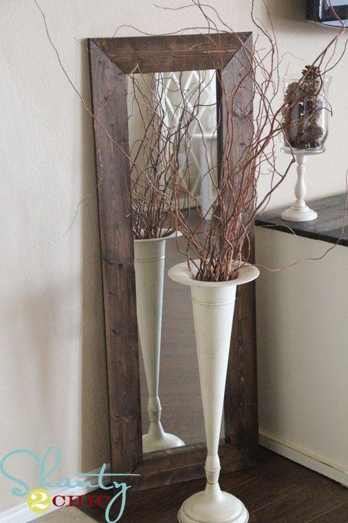 $15 DIY mirror diy-crafts | Home projects | Pinterest | Diy mirror ...