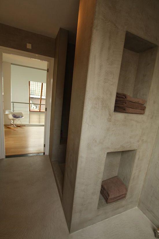Muren schilderen met kalkverf - badkamer | Pinterest - Muren ...