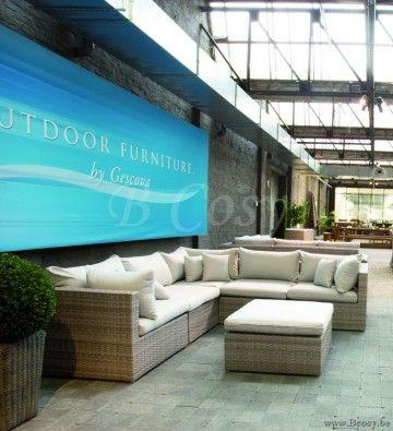 Gescova Deauville Ravenna Ensemble lounge salon de détente jardin ...