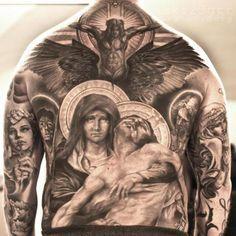 back piece tattoo ideas religious - Pesquisa do Google