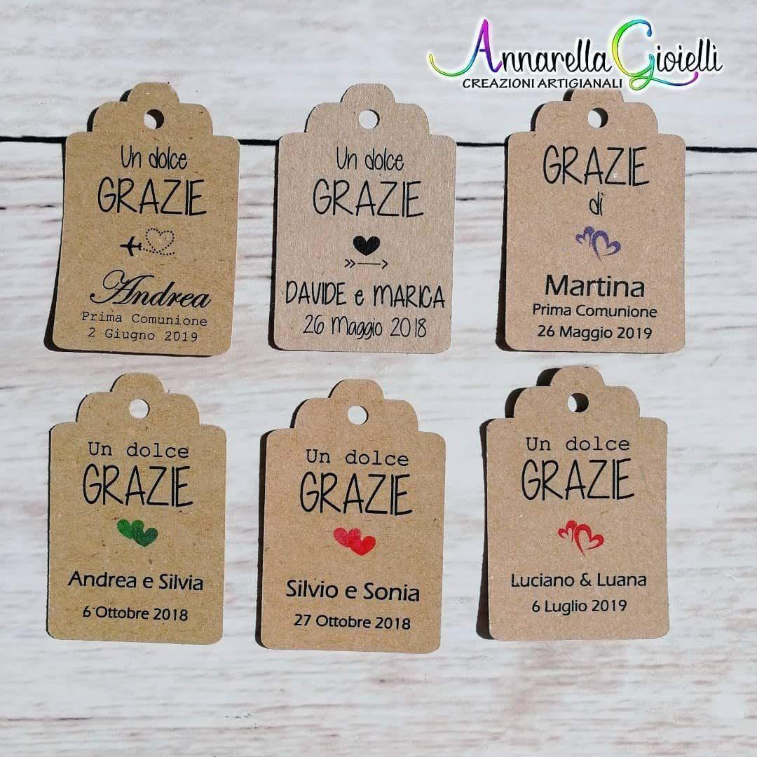 Bomboniere Personalizzate Matrimonio.Cartellini Kraft Personalizzati Tag Bomboniere Avana Etichette