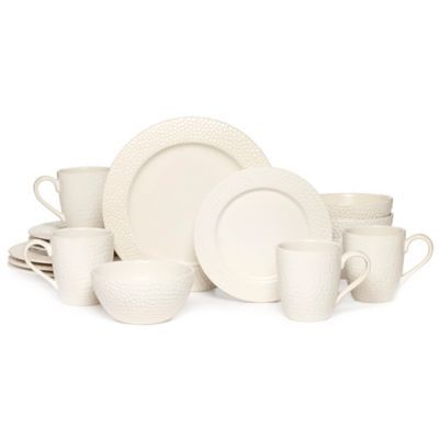 Mikasa® Gourmet Basics Hayes 16-Piece Dinnerware Set in White - BedBathandBeyond.com