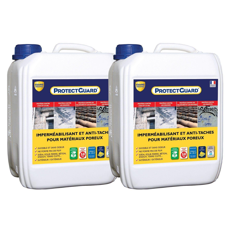 Impermeabilisant Facade Et Sol Exterieur Protectguard Lot 2x5l Incolore Guard Industrie Pulverisateur Nettoyant Et Nettoyer Sol