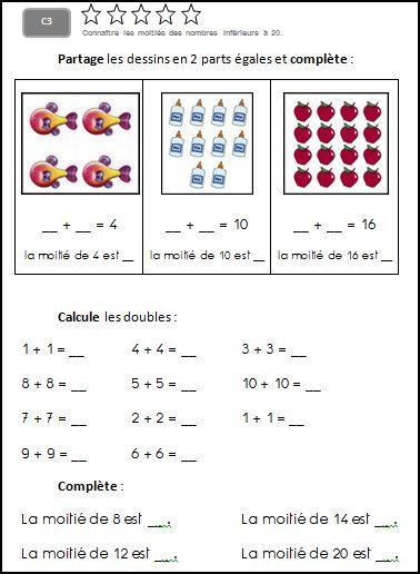 C3 connaitre les moiti s des nombres inf rieurs 20 for Calcul classe energetique maison