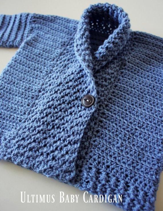 eea7c1b74f57 CROCHET PATTERN Ultimus Baby Cardigan - Sizes 0-3