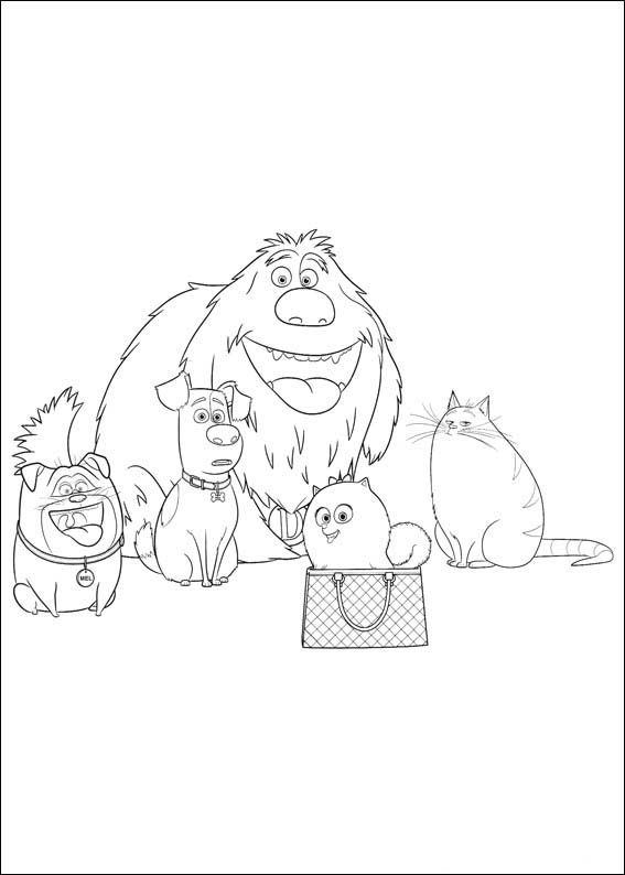 The Secret Life Of Pets Coloring Pages 30 With Images Coloring Pages Pets Movie Secret Life Of Pets