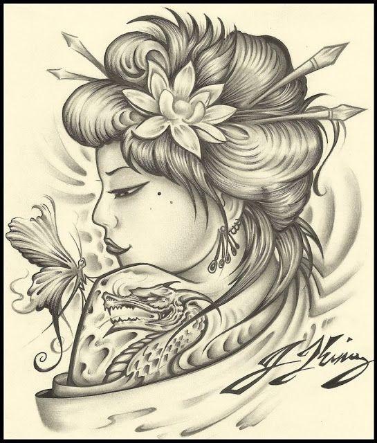 Gueixa Tattoo Tatuagens Gueixa Gueixa E Tatuagem Gueixa Japonesa