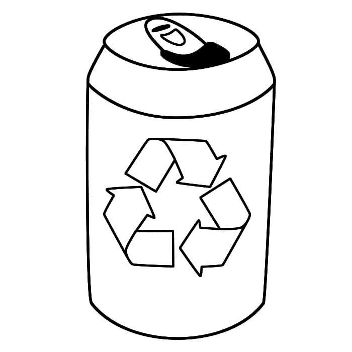 Drink Tin With Symbol Coloring Page Earth Day Dana Pinterest