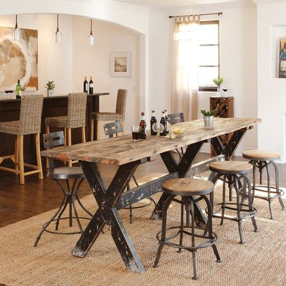 Urban Industrial Contemporary Dining Room Los