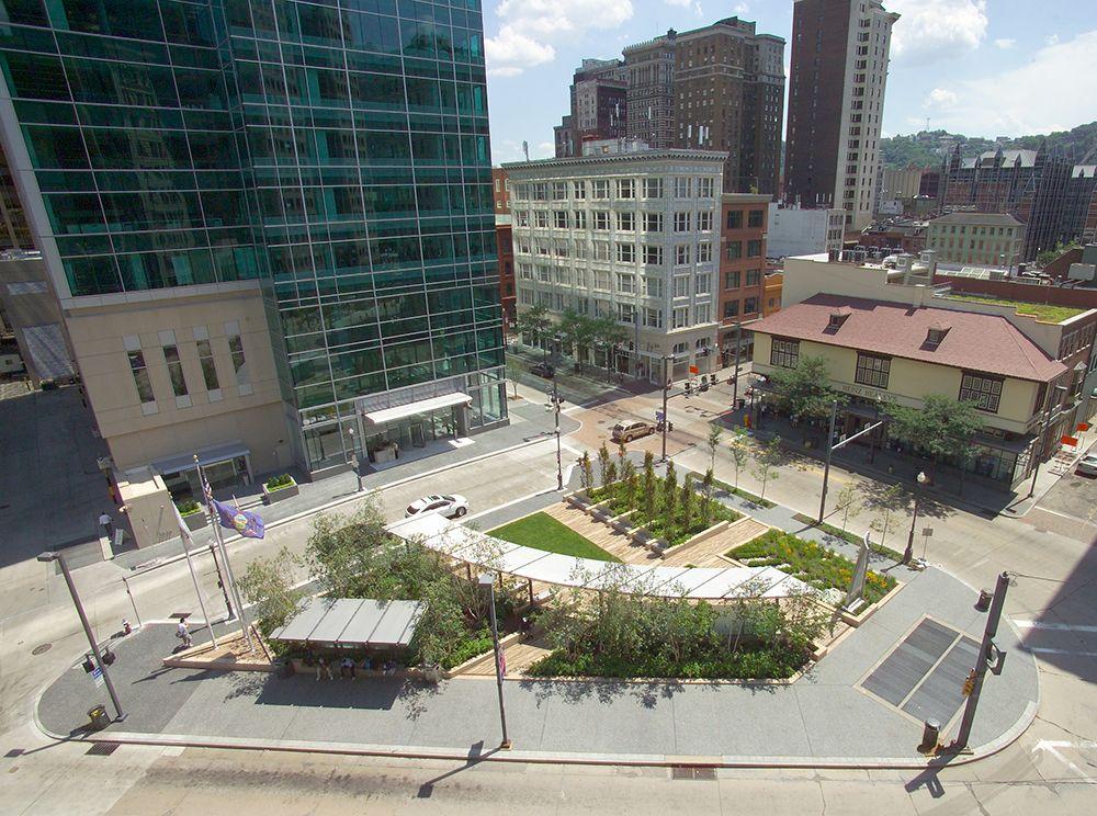Project - Three PNC Triangle Park | Plazas | Triangle park ...