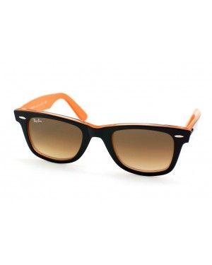 dd49104d2c94e0 Ray-Ban Original Wayfarer RB 2140 1002 51 Noir   orange rayban wayfarer  lunettes pas cher