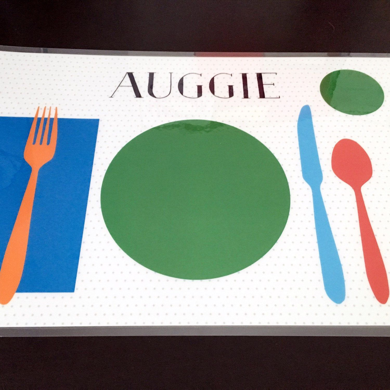 Learn To Set The Table Placemat Personalized Children