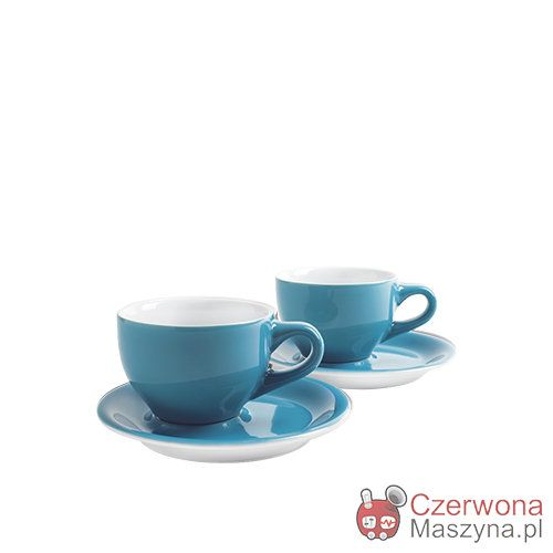 2 Filiżanki do cappucino Kahla CAFÉ SOMMELIER 230 ml, niebieskie - CzerwonaMaszyna.pl