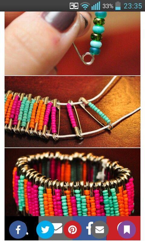 Safety Pin Bracelet!