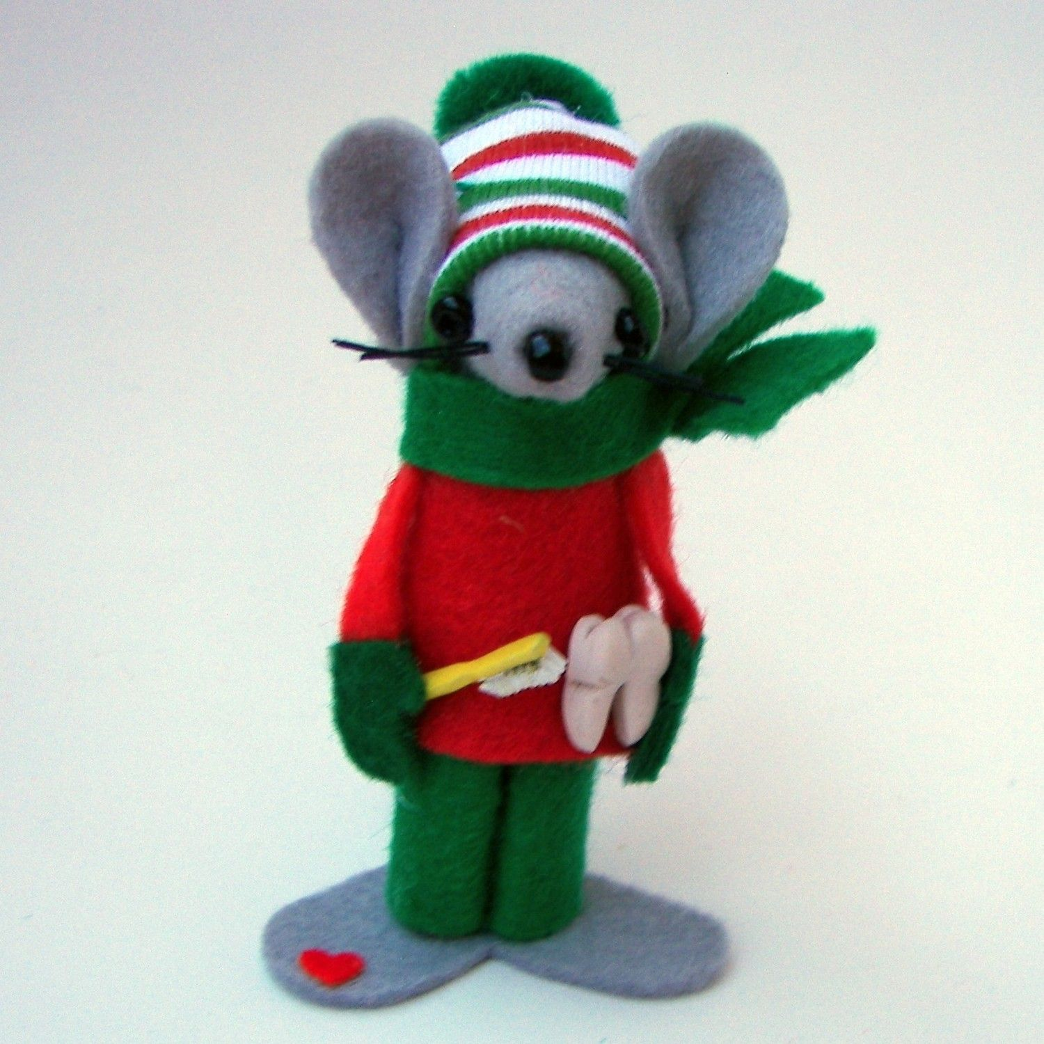 Felt Mice Ornament Dentist Christmas Ornament Handmade Dr Gift ...