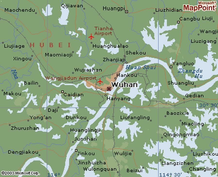 Wuhan Map wuhan area this map doesn t do wuhan justice the