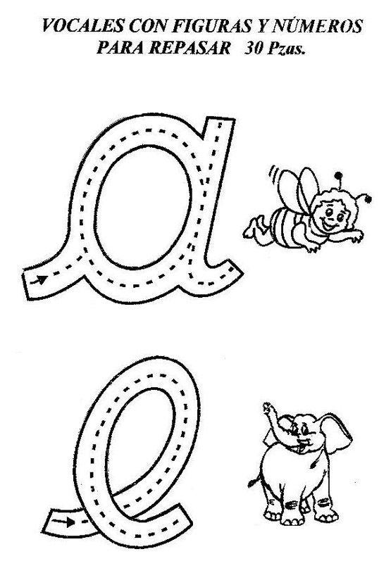 Figura vocales - Imagui | Atividade alfabeto educação infantil ...