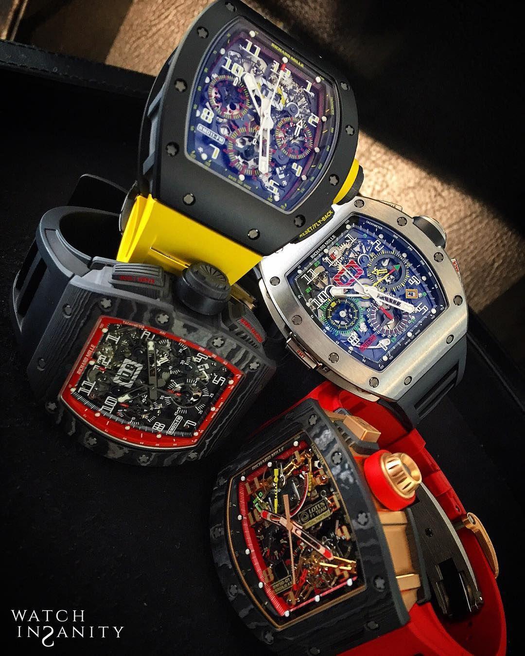 @richardmilleemea  Addiction RM011 Geneva Boutique Edition LE RM011 Felipe Massa BlackNight RM5O-01 Lotus F1 Team RM011 GMT #watchinsanity #richardmille #aracingmachineonthewrist #timepieces #watchs #billionairetoys #dailywatch #luxurywatch #horology #watchporn #womw #tourbillon #chronograph #wristshot #watchesofinstagram #watchnerd #watchoftheday #horophile #wruw #luxury #mondani #rolexero #gentleman #orogoli #montres #reloj #watchanish #wristporn #thebillionairesclub by watchinsanity