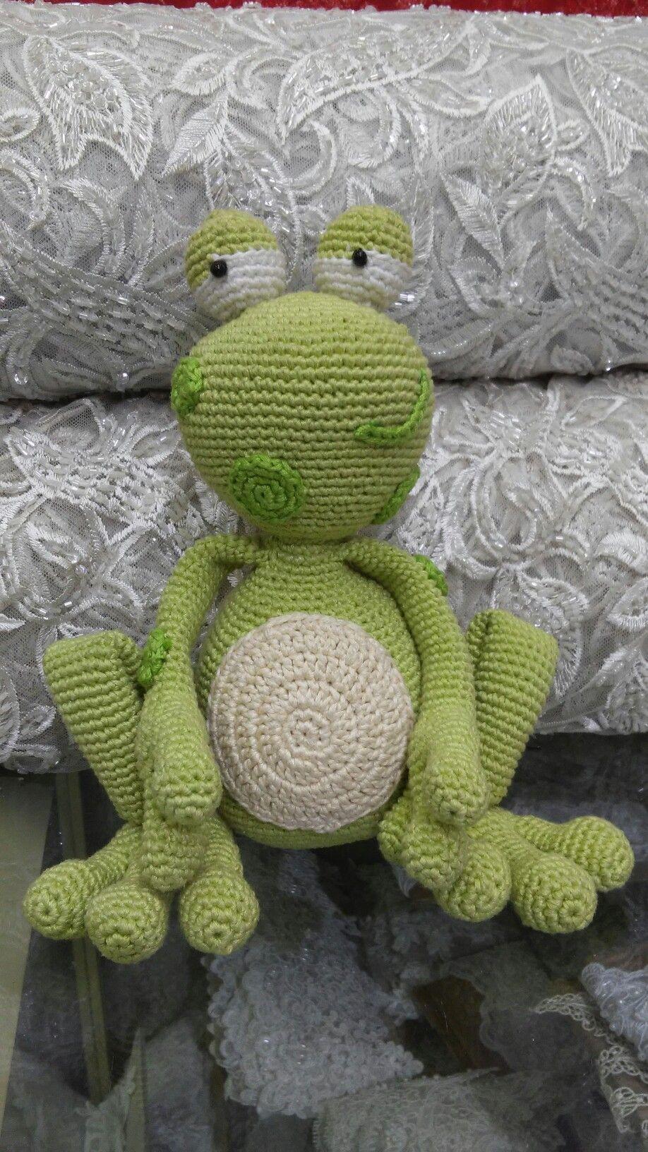 Ranita a crochet