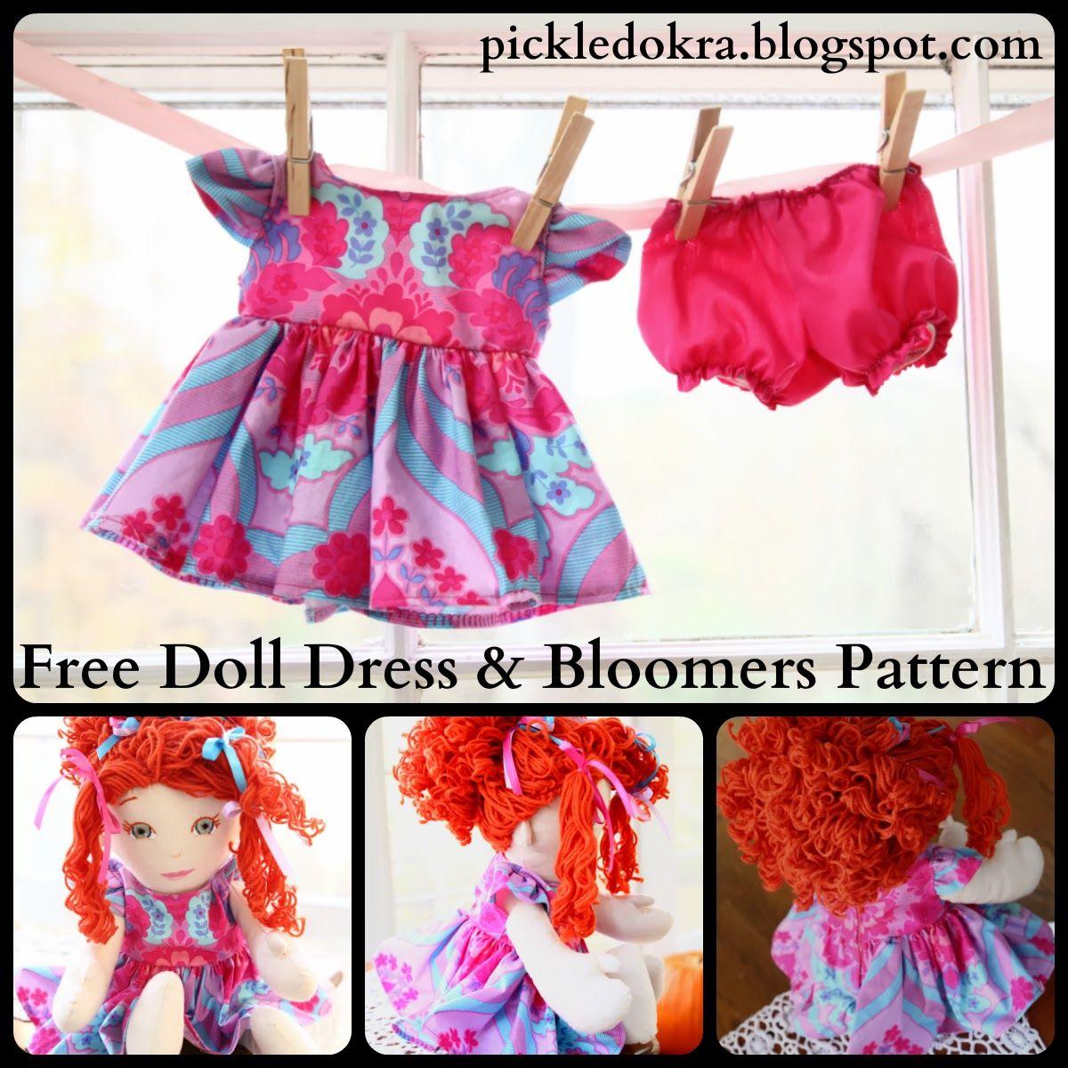 Blythe's Doll, Free Dress Pattern (Pickled Okra:) #dollunderware