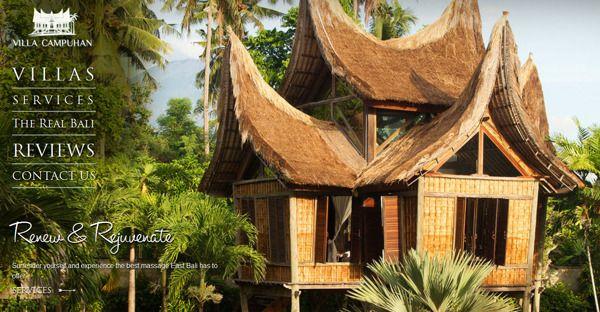 Web Design For Bali Vacation Rental By Isadora Marlow Morgan Via Behance Bali Vacation Web Design Vacation