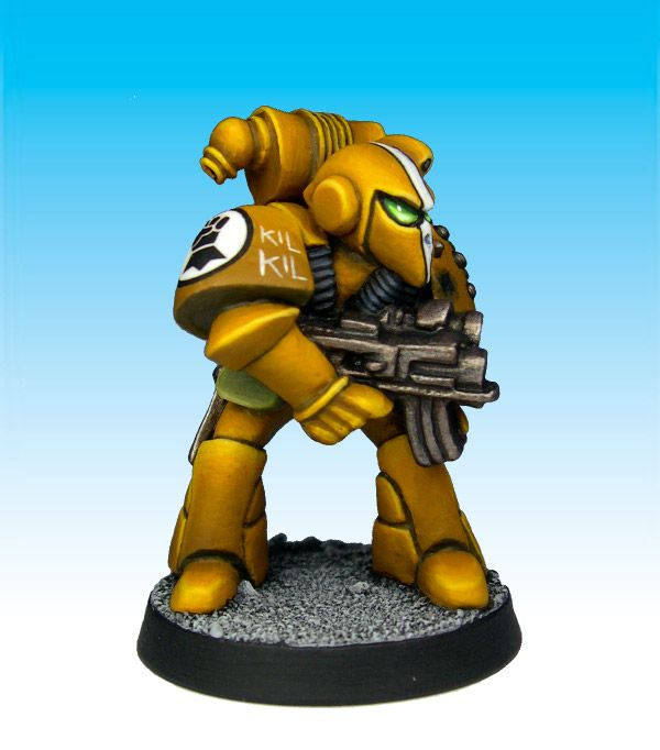 Imperial Fist Space Marine with Bolter 5