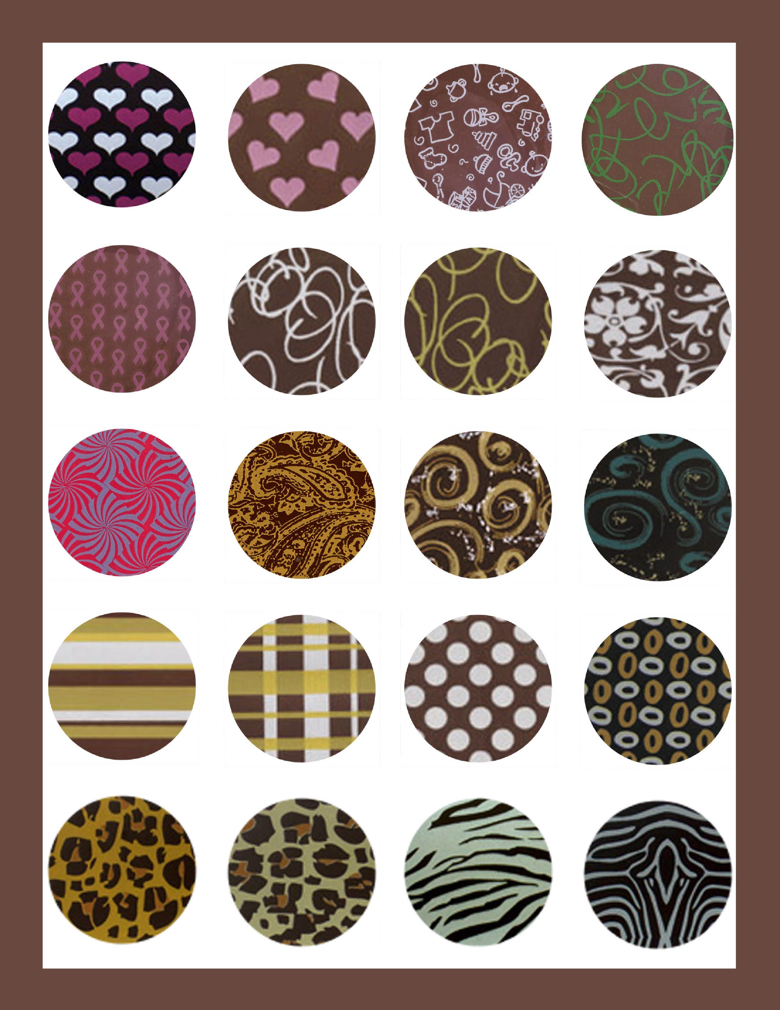 Chocolate Transfer Sheets Create Patterns On Your