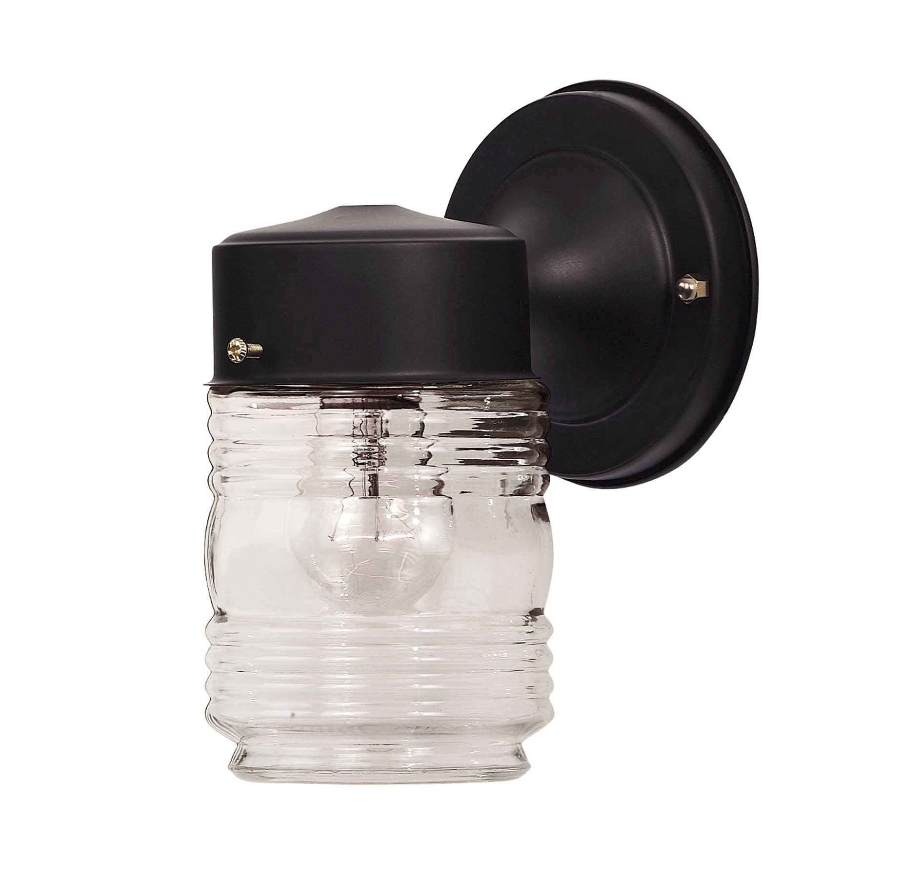 Savoy house 07046 blk exterior collections jelly jar wall mount in savoy house 07046 blk exterior collections jelly jar wall mount in outdoor lights outdoor arubaitofo Gallery