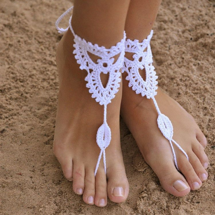 sandals etsy anklet via pin yoga nude stone crochet beach pool cream steampunk victorian sexy barefoot lace wedding natural shoes