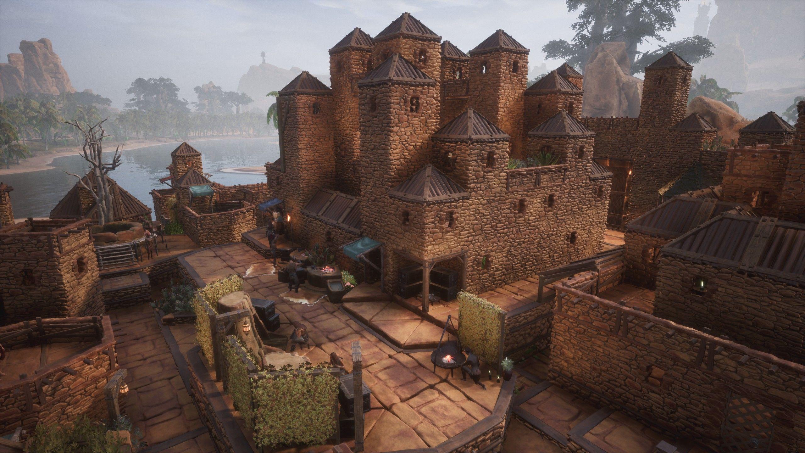 City Of Exiles In 2020 Conan Exiles Viking Village Fantasy Concept Art